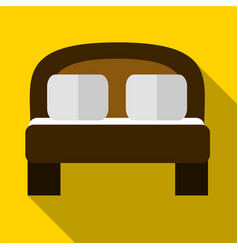 Double bed flat icon vector