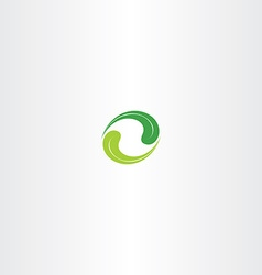 Ecology leaf circle green logo icon vector