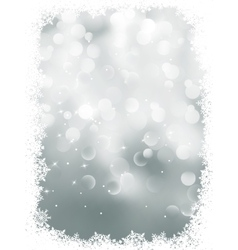 Elegant snowflakes winter background EPS 8 vector image
