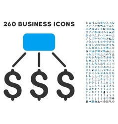 financial scheme icon with flat set vector image
