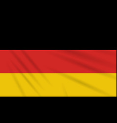 flag germany swaying in wind realistic vector image