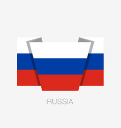 Flag of russia flat icon waving flag with country vector