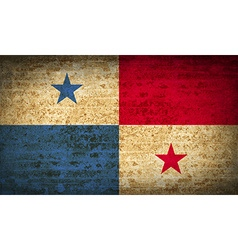 Flags Panama with dirty paper texture vector