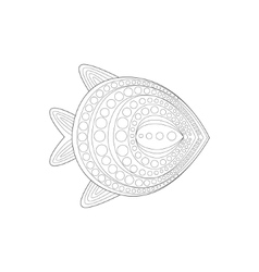 Flat Warm Water Fidh Sea Underwater Nature Adult vector image