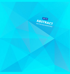 Geometric blue low polygon abstract background vector