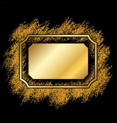 Gold frame beautiful golden glitter design vector