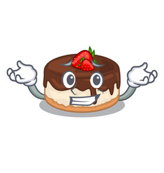 Grinning cake berries in character that fresh vector