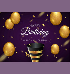 happy birthday celebration typography design for vector image
