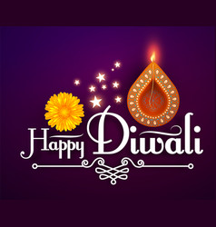 Happy diwali traditional indian festival vector