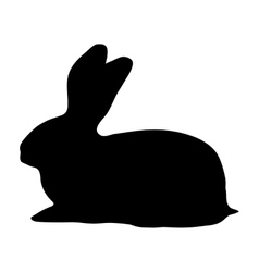Hare silhouette on a white background vector