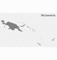 high quality map melanesia vector image