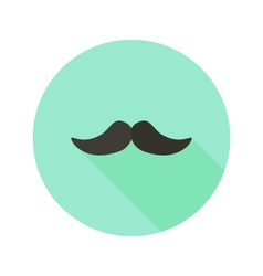 Hipster Mustache Flat Icon vector