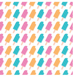 ice cream pattern design vector image