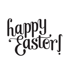Lettering happy easter vector