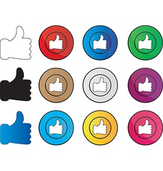 LIke hands vector image