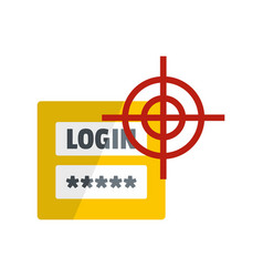 login icon flat style vector image