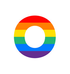logo letter o rainbow vector image