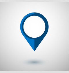 Map pointer icon in flat style navigator symbol vector