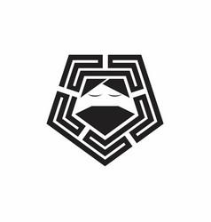 Master guru logo design template vector