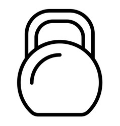 metal kettlebell icon outline style vector image