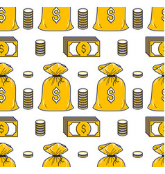 Money cash seamless background dollar currency vector