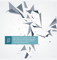 Network mesh polygonal background vector
