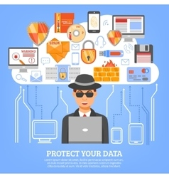 Network Security Concept vector image