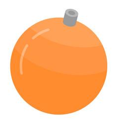orange christmas ball icon isometric style vector image