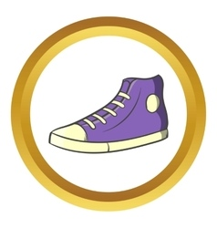 Pair of sneakers icon cartoon style vector