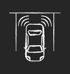 Parking sensors chalk white icon on black vector
