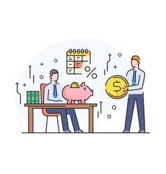 partners discuss business international deal vector image