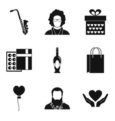 Perfect place icons set simple style vector