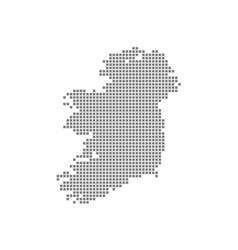 Pixel map of ireland dotted map of ireland vector
