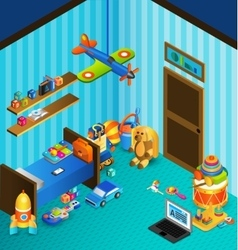 Playroom Concept Isometric vector