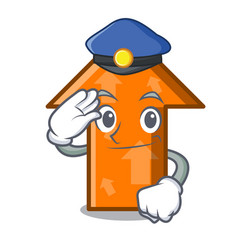 police arrow character cartoon style vector image