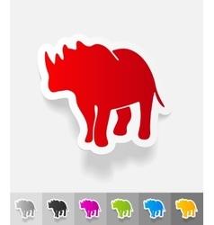 Realistic design element rhino vector