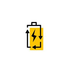 recycle rechargeable battery energy logo icon vector image