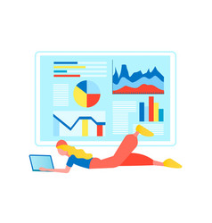 remote work concept web analytics vector image