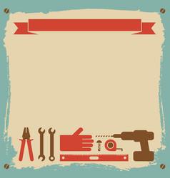 Repairs worker background vector