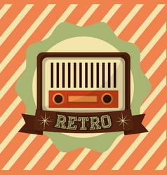 retro vintage radio music vector image