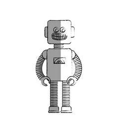 Robot electric toy icon vector
