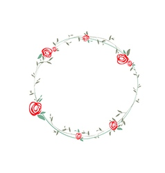 Rose Round Wreath vector