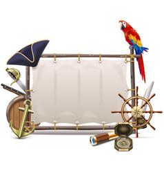 Sail seafaring frame vector