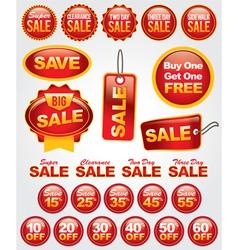 Set retail sale labels vector