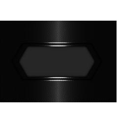silver hexagon banner luxury vector image