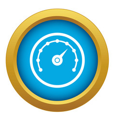 speedometer icon blue isolated vector image