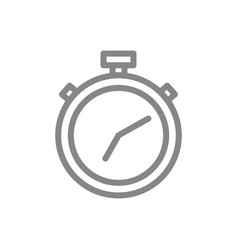 stopwatch line icon timer for board game symbol vector image