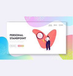 Student study prehistory ages landing page vector