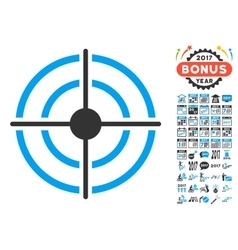 Target Icon With 2017 Year Bonus Pictograms vector