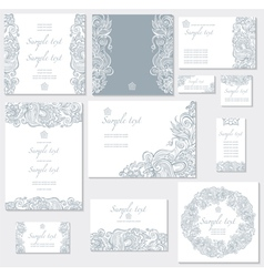 template for wedding cards vector image